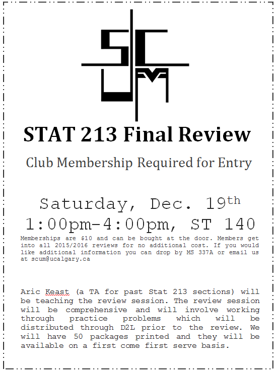 stat 213 final review poster